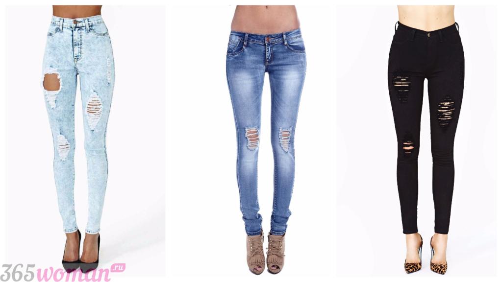 модные джинсы 2018 2019 фото женские тренды фото: узкие
