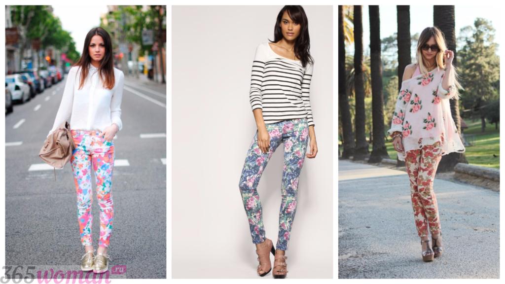 модные джинсы 2018 2019 женские: принты