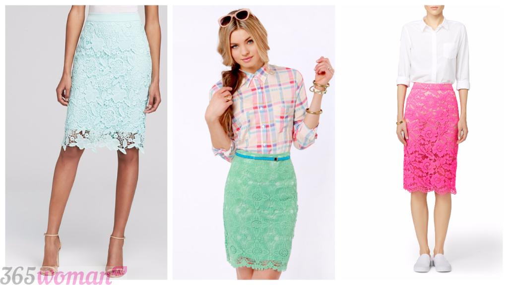 кружевные гипюровые короткие юбки с чем носить фото