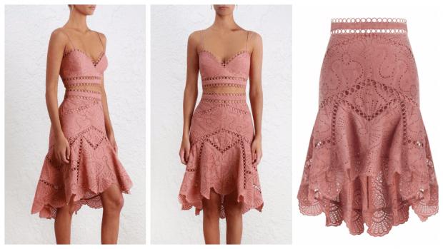 юбка клеш из гипюра фото с чем носить
