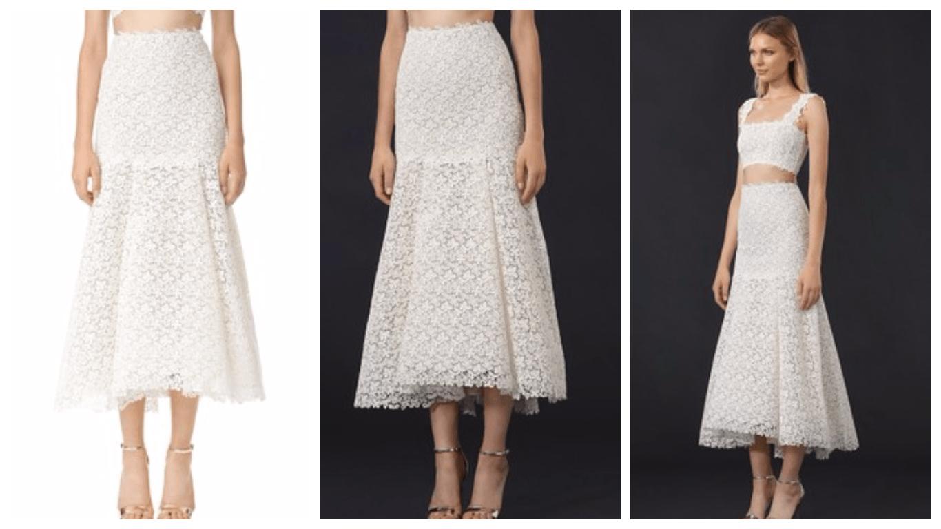 гипюровая юбка миди с чем носить фото