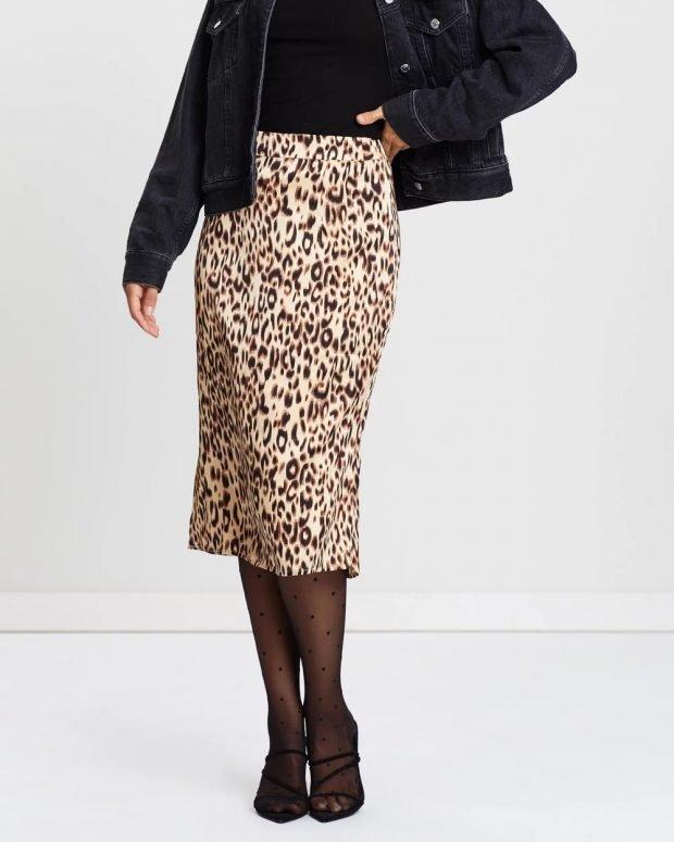 Модные юбки осень-зима 2019 2020: леопардовая