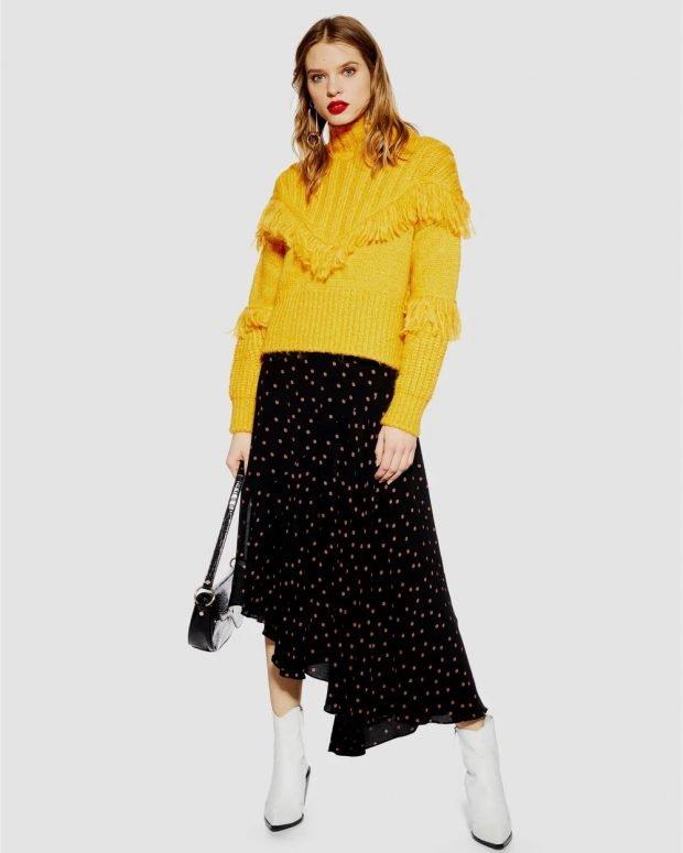 Модные юбки осень-зима 2019 2020: черная асимметрия