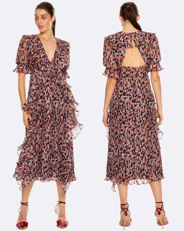 платья весна-лето 2021: черное с принтом легкое