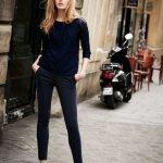 Как и с чем носить узкие брюки джинсы?