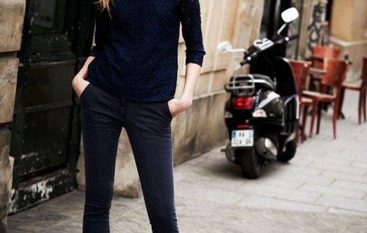 С чем носить женские узкие брюки: фото