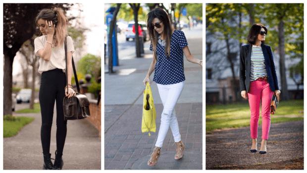 модные узкие брюки с чем носить