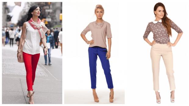 с чем носить модные цвета брюк