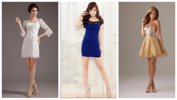 короткие клубные платья
