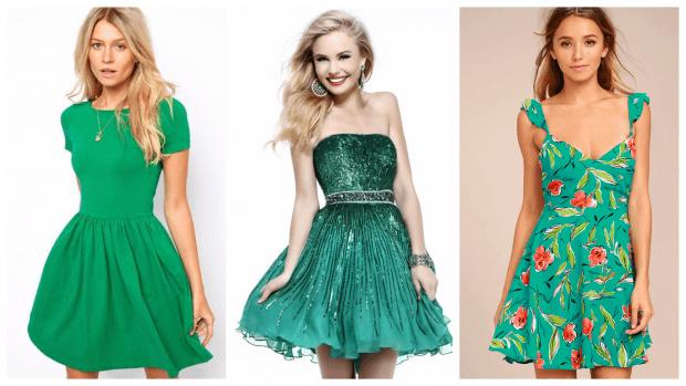 зеленые клубные платья