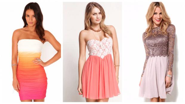 яркие клубные платья