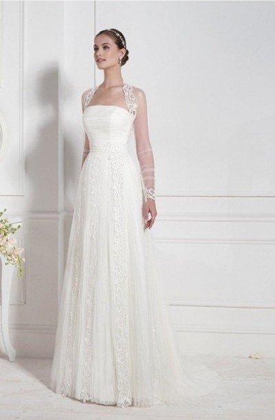 свадебное платье прямого фасона