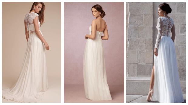 греческое свадебное платье: изящные