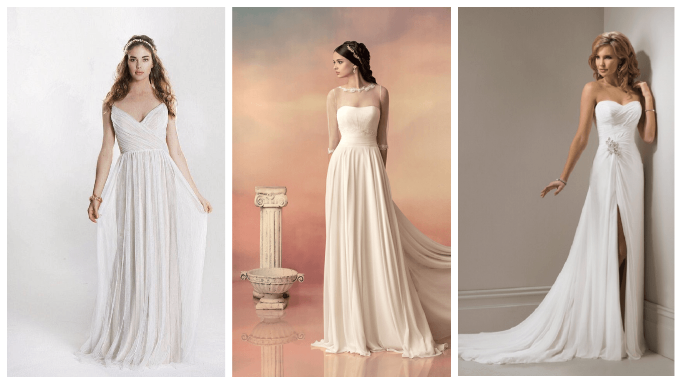 Свадебные греческие платья 2017