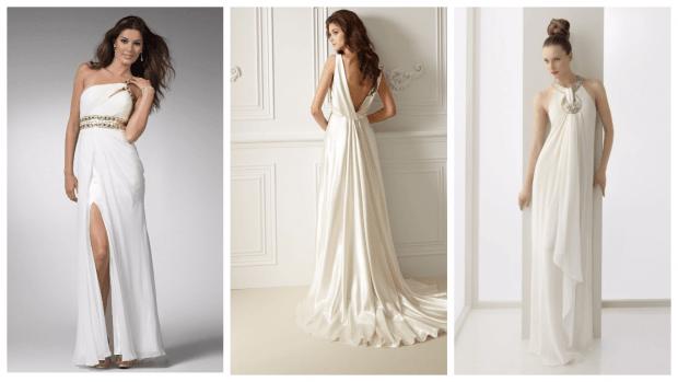 свадебные платья 2019 греческие: модные