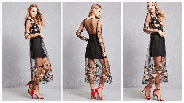 длинные коктейльные платья