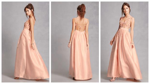 коктейльное платье в пол