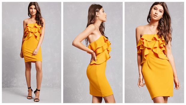 коктейльные платья с оборками