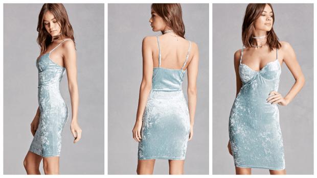 бархатное коктейльное платье