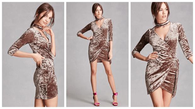 коктейльное платье из бархата