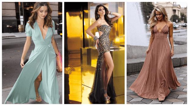 модные нарядные платья 2018: длинные