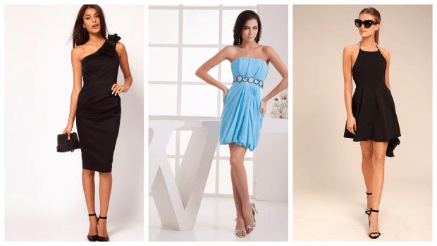 модные нарядные платья 2018: мини