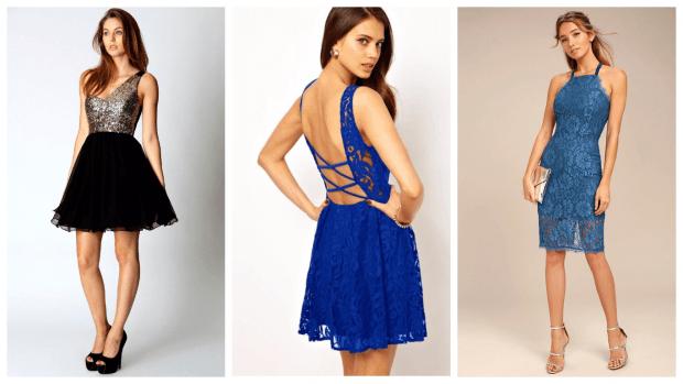 Нарядные платья 2020 2021: черное и синее
