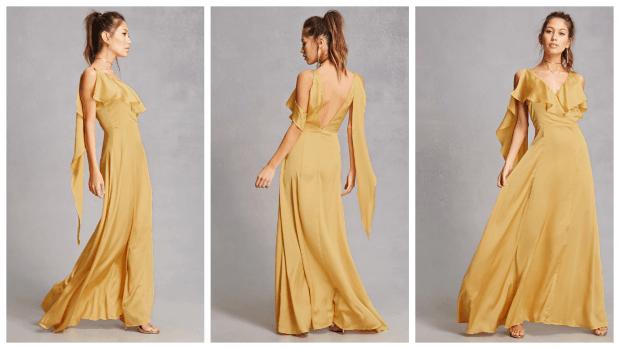 нарядные платья лета 2020: длинное желтое