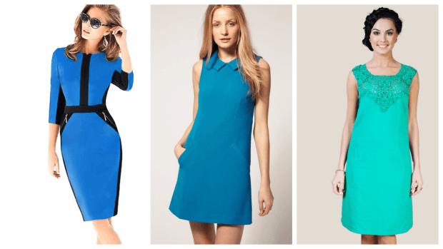 стильные офисные платья