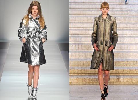 блестящие пальто осень зима 2018 2019 мода