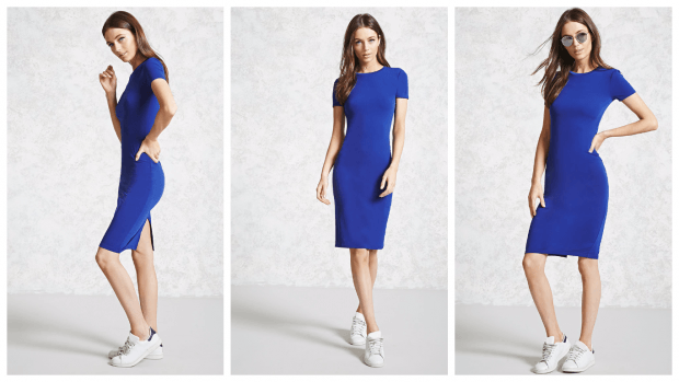 модные платья на каждый день 2019 2020 фото новинки синее