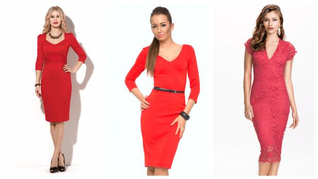 яркие строгие платья 2019 2020 красные