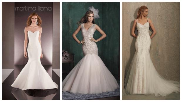 модные свадебные платья рыбка