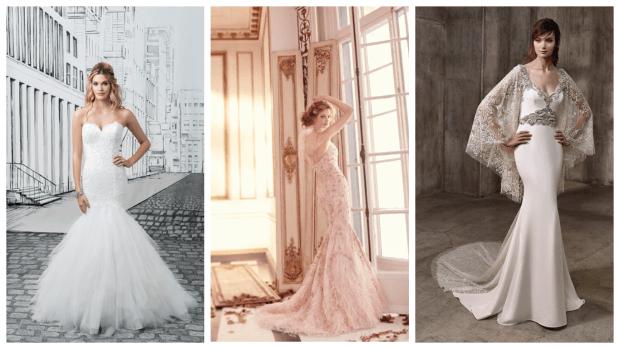 модные свадебные платья русалка