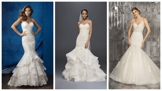 как выбрать свадебное платье рыбка