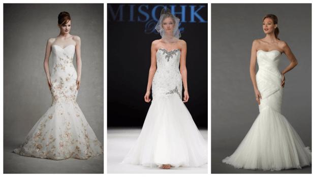 модное свадебное платье рыбка