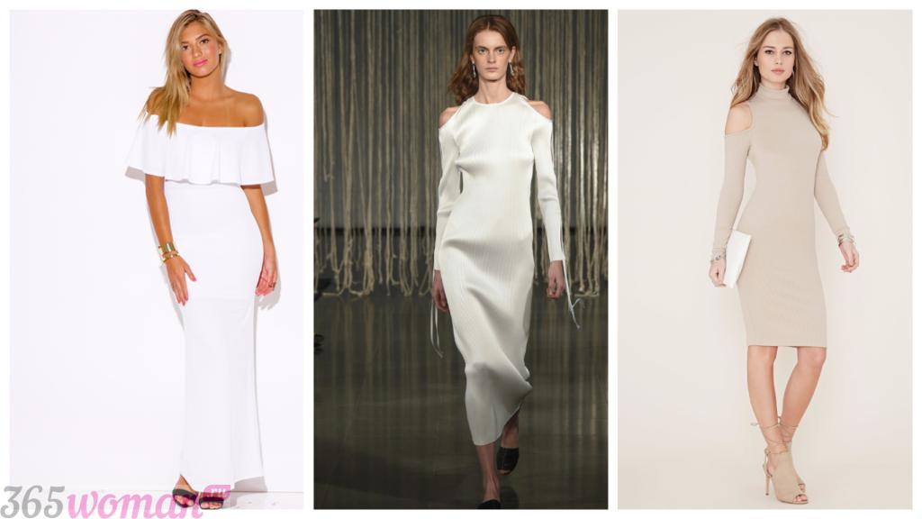 открытые модные платья 2018