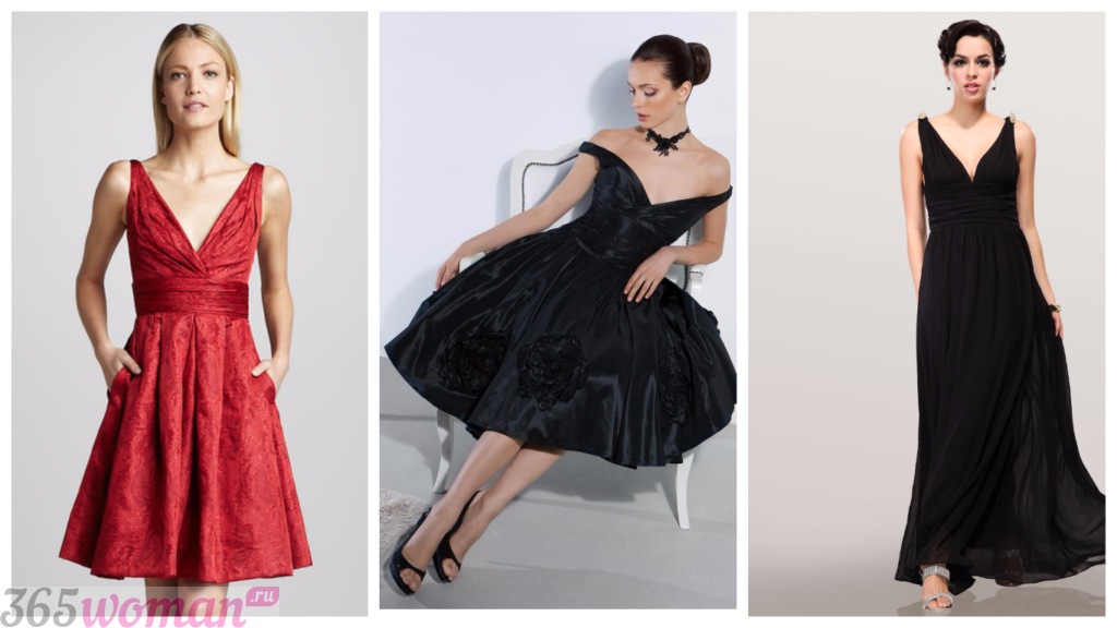 модные платья с вырезом 2018