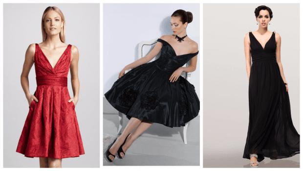 платья с вырезом