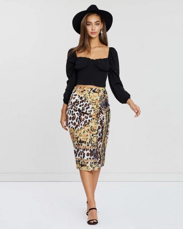 модные тенденции 2021 2022 года в одежде: леопардовая юбка