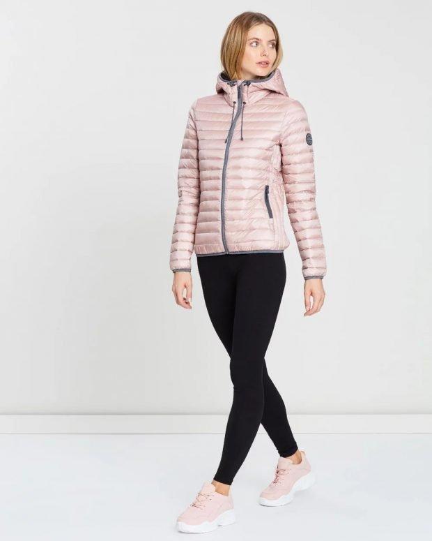 пуховики осень зима 2020 2021: розовый легкий