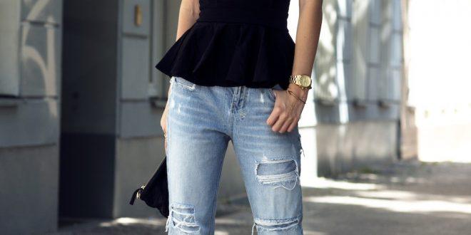 С чем носить женские джинсы бойфренды? Весной, летом, осенью, зимой.