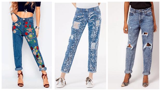 С чем носить джинсы бойфренды: кеды