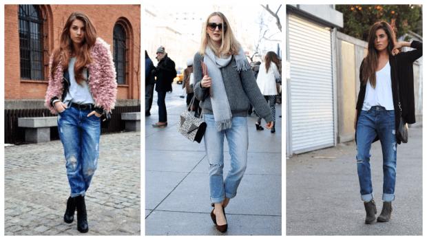 С чем носить джинсы бойфренды: стильные