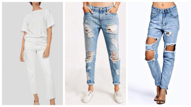 С чем носить джинсы бойфренды: мокасины