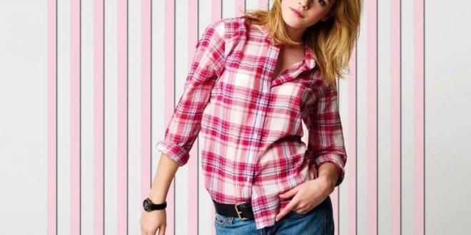 С чем можно носить женскую рубашку в клетку? Фото.