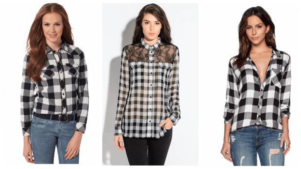 рубашка в клетку с чем носить: модные образы