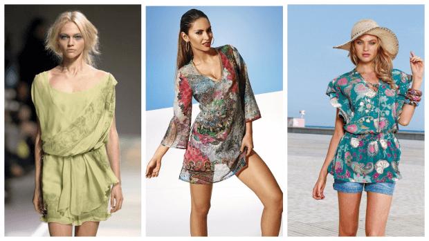 летние туники с чем носить