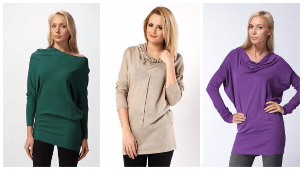 стильные образы с туникой с чем носить