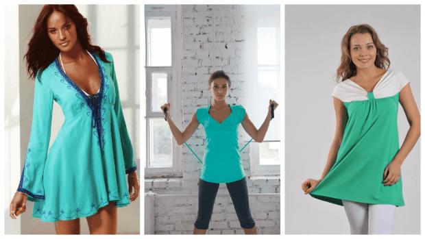 стильные образы с туникой платьем с чем носить